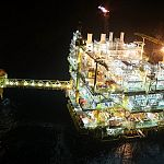 offshore construction night time