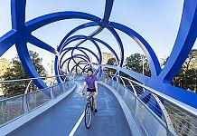 Macquarie Park cyclist bridge