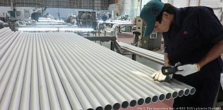 The inspection line at NAS TOA's plant in Thailand.