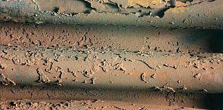 Mesa type corrosion