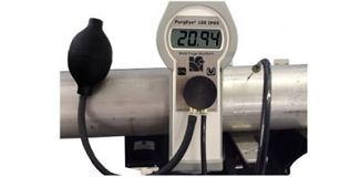 Highly accurate 100ppm weld purge monitor for welding