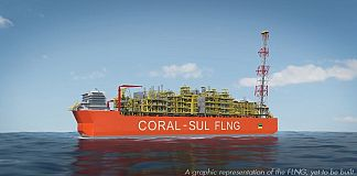 A graphic representation of the FLNG
