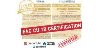 Raccortubi Group obtains EAC certification