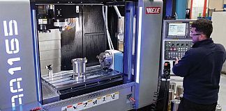 A 4-axis machining centre