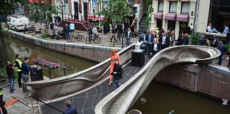 MX3D unveiled in the city center of Amsterdam