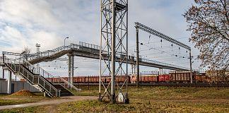 Overhead bridges to safely navigate rail tracks offer good opportunities for stainless castings