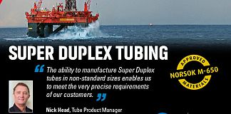 Super duplex tubing from Fine Tubes now available