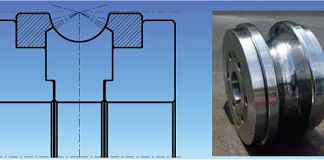 The Floating Flange can prevent roll scratch which occurs due to the difference of circumferential speed between the top and bottom of the profile.