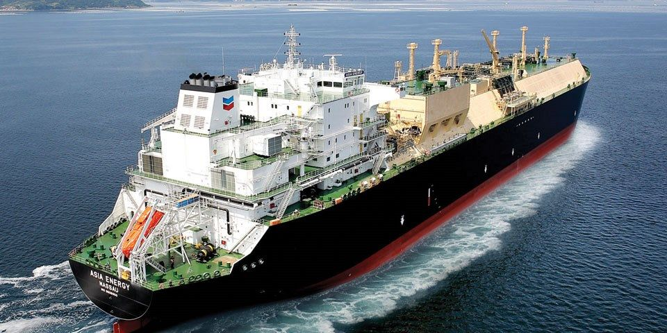 One of Chevron's new LNG carriers