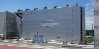 A land lock for flood/tsunami protection