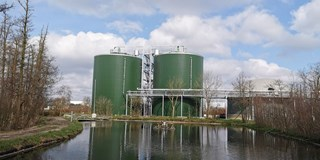 The digester after in operation