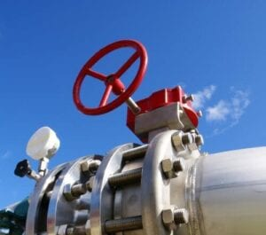 manual actuator on pipeline
