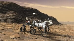 The NASA Perseverence rover that is currently exploring Mars.
