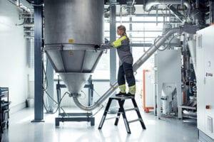 Powder tower at Sandvik's titanium powder manufacturing facility in Sandviken, Sweden. Photo courtesy of Sandvik Additive Manufacturing.