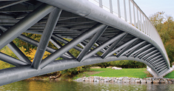 The Folke Bernadotte bridge in Stockholm is constructed of Forta LDX 2101. Courtesy Outokumpu.