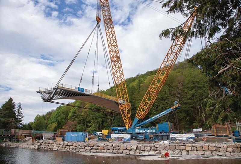 Duplex Bridge being placed