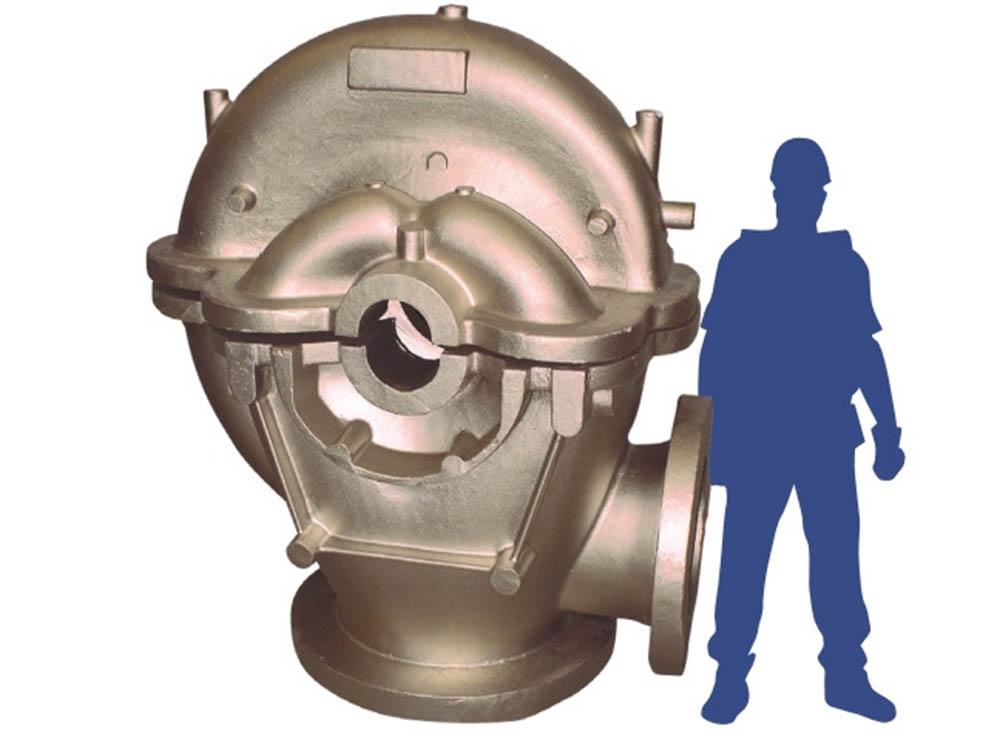 A large-scale NAB sand cast pump casing.